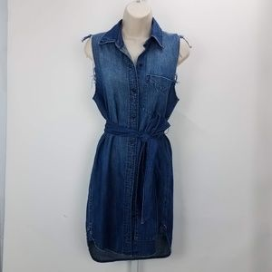 Current/Elliott Eden Shirtdress Sz 0 Blue B1
